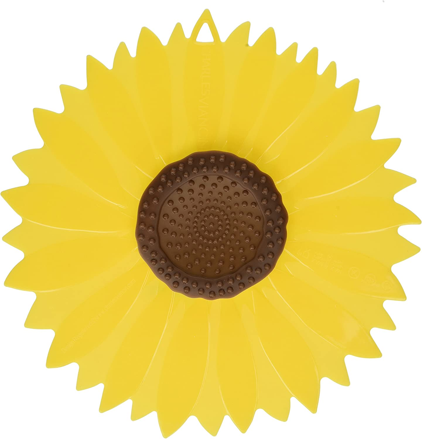 Charles Viancin Sunflower Small, Medium & Large Silicone Suction Lid & Food Cover (Set of 3), 100