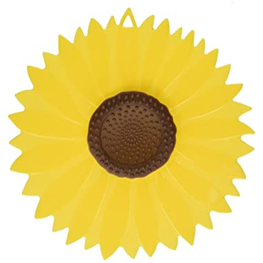 Charles Viancin CHLS5487 Sunflower Small, Medium & Large Silicone Suction Lid & Food Cover (Set of 3), 100