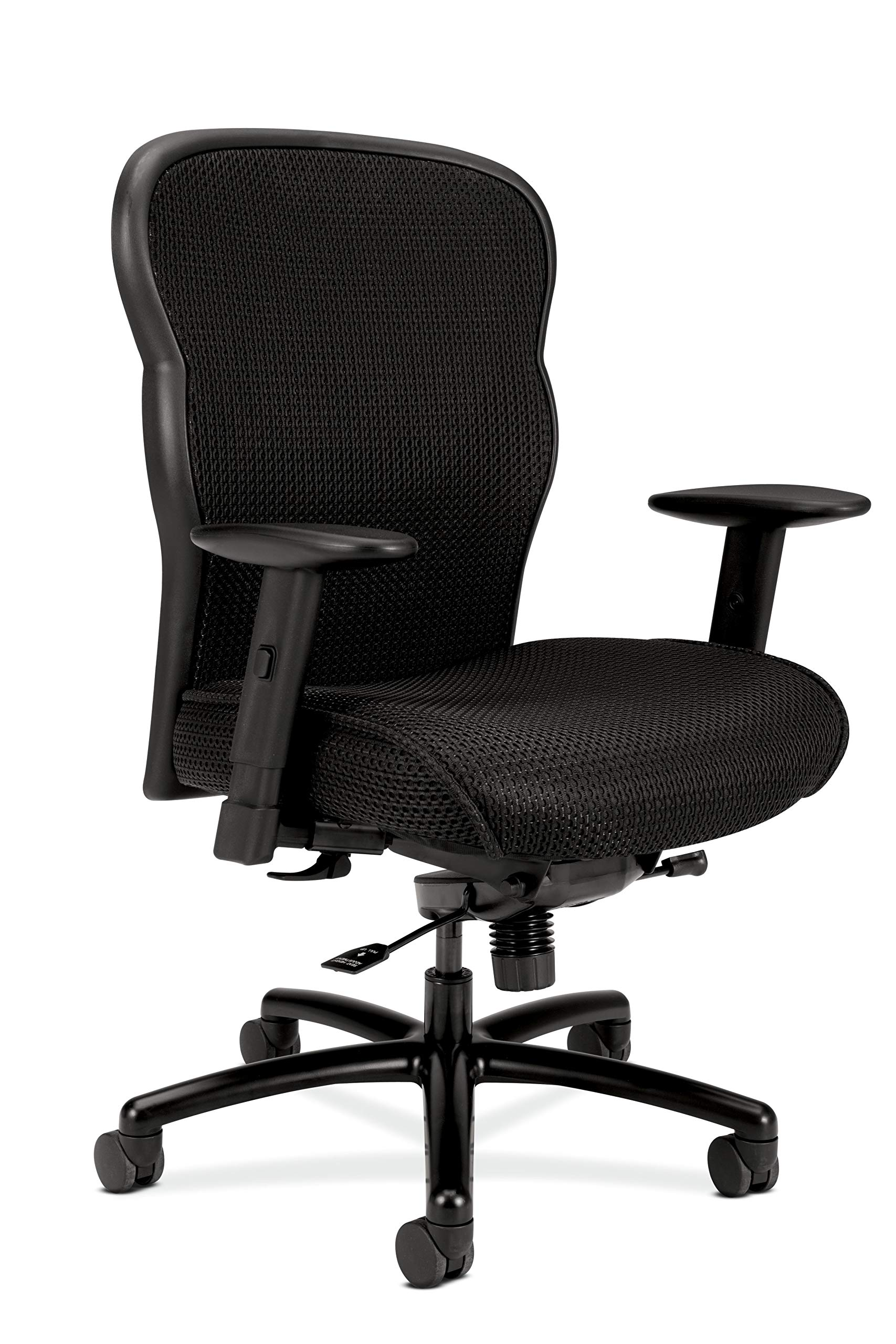 HON Wave Big and Tall Executive Chair - Mesh Office Chair with Adjustable Arms, Black (VL705) by HON