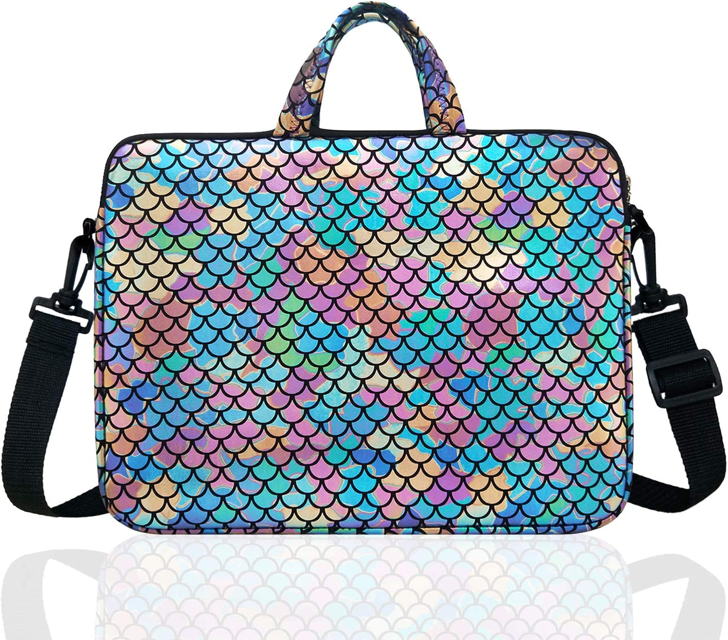 """17.3-Inch Laptop Shoulder Carrying Bag Case Sleeve For 17"""" 17.3 inch HP DELL (Colorful)"""
