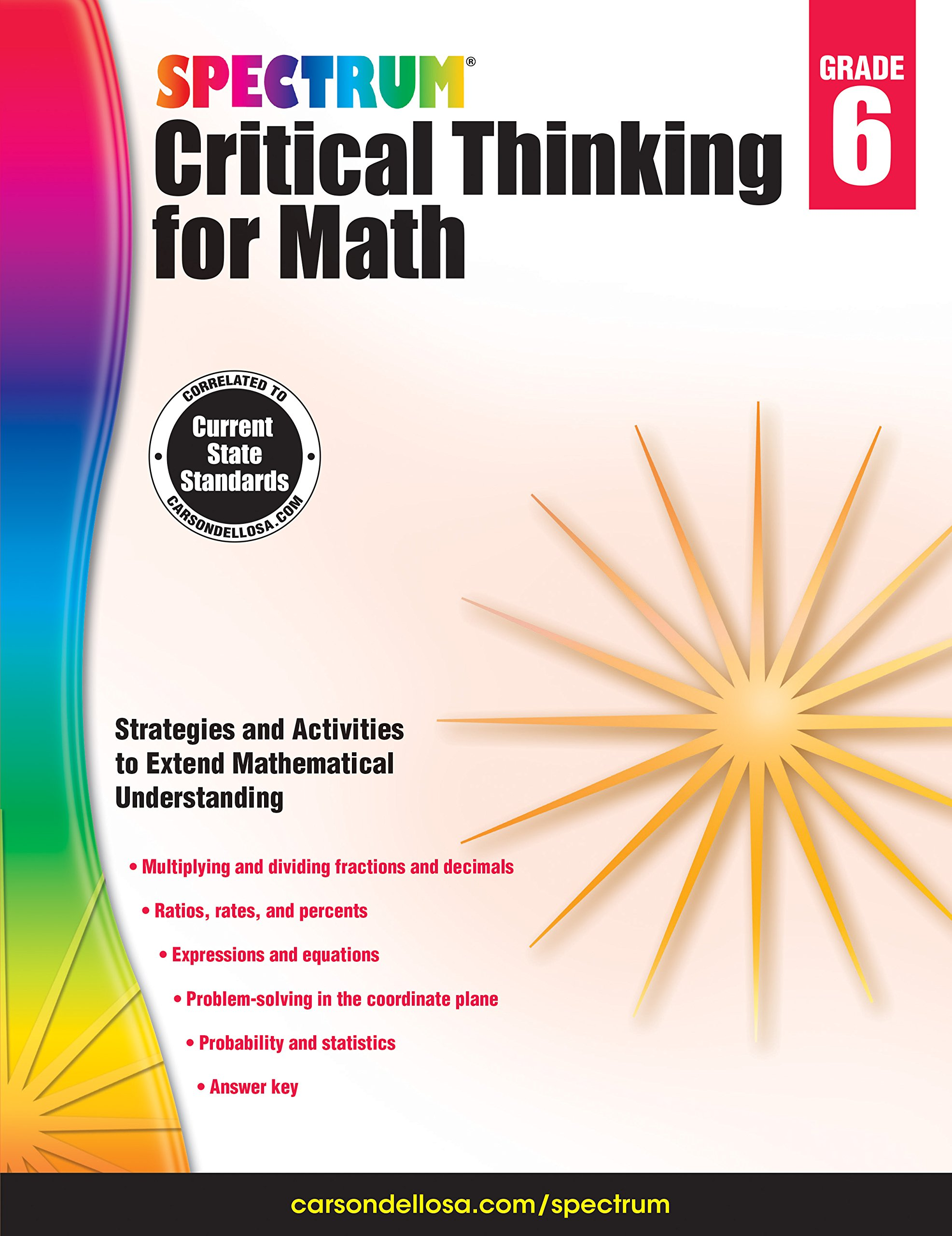 Spectrum critical thinking for math grade 6 spectrum spectrum critical thinking for math grade 6 spectrum 9781483835532 amazon books fandeluxe Images