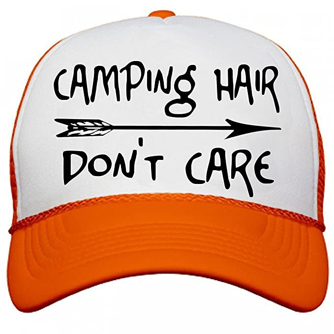 amazon camping hair don care trucker baseball cap vacation black white clothing tc hat