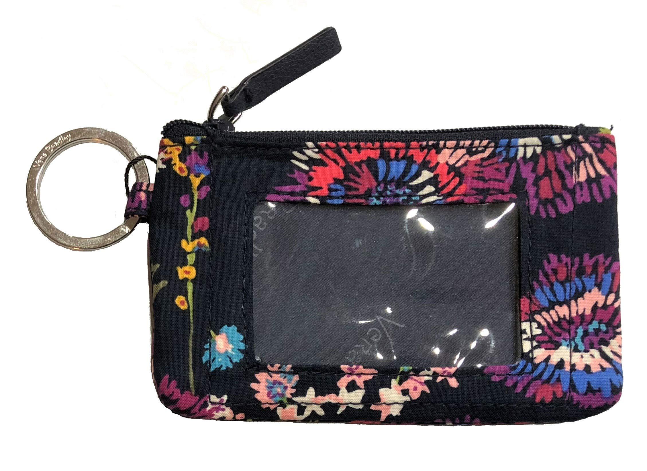 Vera Bradley Women's Zip ID Case (Midnight Wildflowers)