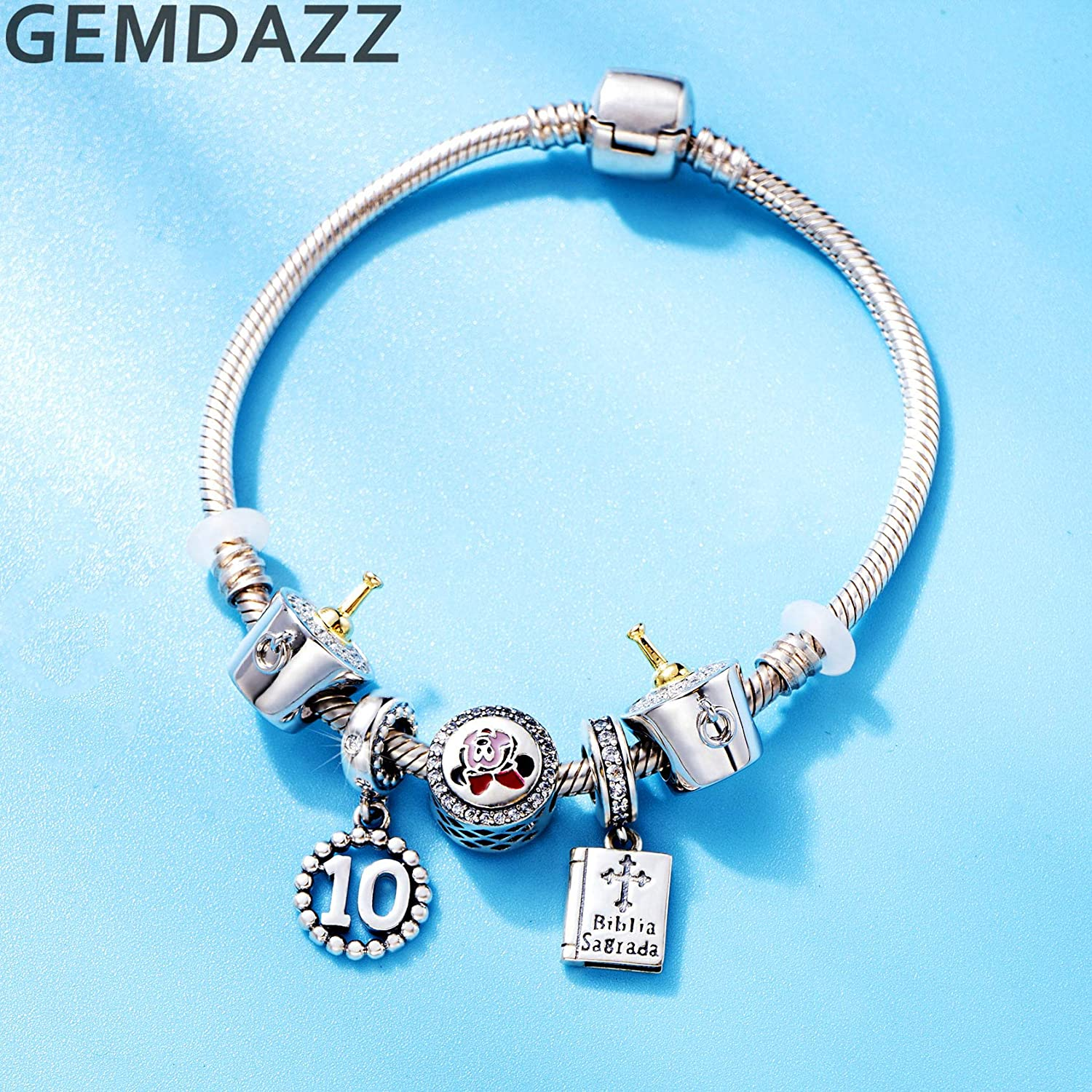 C-126-12PC 10 Charms 10 Prostate Cancer Circle Charms in a Bag