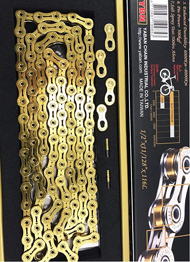 New YBN SLA 211 Titanium 11 Speed Bike Chain in box for SHIMANO SRAM CAMPAGNOLO