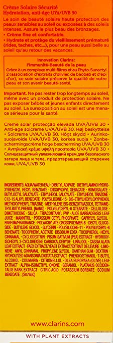 Clarins Sun Crema Solaire Peaux Sensibles Spf30 125 ml ...
