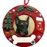 E&S Pets Doberman Pinscher Personalized Christmas Ornament