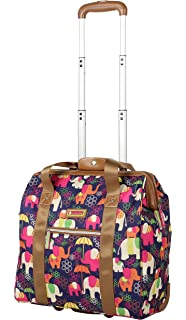 Amazon Com Lily Bloom Designer 15 Inch Carry On Weekender Overnight Business Travel Luggage Lightweight 2 Spinner Wheels Suitcase Under Seat Rolling Bag For Women Elephant Rain Carry Ons