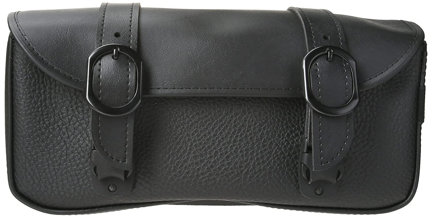 Dowco Willie & Max 58282-20 Black Magic Series: Synthetic Leather Motorcycle Tool Pouch, Black, Universal Fit, 2.5 Liter Capacity