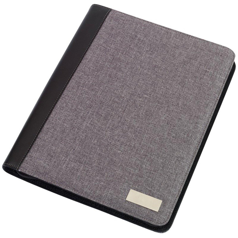 Cartella portadocumenti in formato DIN A4, utilizzabile come blocco appunti, con blocco di fogli incluso, calcolatrice grigia 33 x 26 x 2,3 cm calcolatrice grigia 33x 26x 2 3cm Top 22121