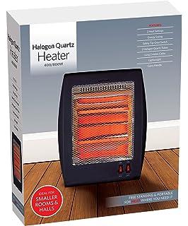 2 x Portable 3 Bar Quartz 1200 W électrique halogène oscilatting Chauffage Home Office