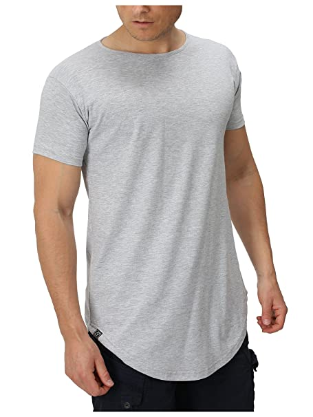 aabedede195d2a APE7® - Herren Longshirt - Stylish   Cool T-Shirt Oversize Long Tee Regular
