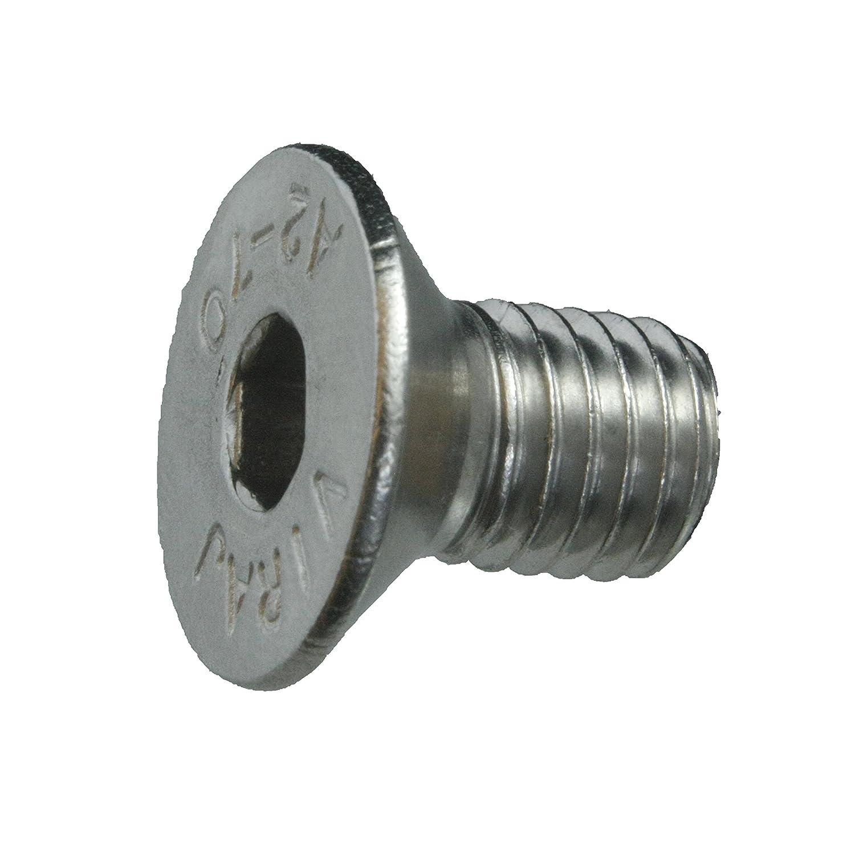 Werkstoff A2 5 Senkkopfschrauben Edelstahl M10 x 50 mm ISO 10642 // DIN 7991 Senkschrauben mit Innensechskant und Vollgewinde VA // V2A