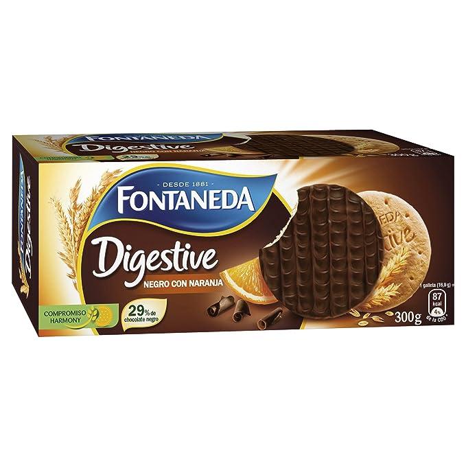 Fontaneda - Digestive - Galletas negras con naranja - 300 g