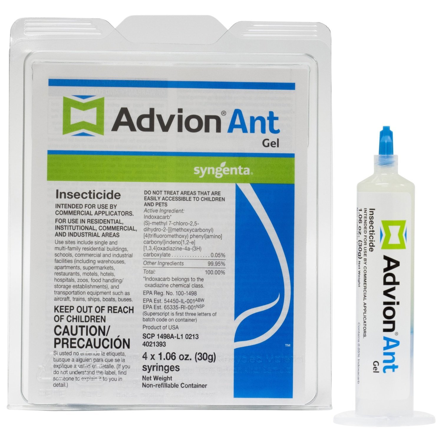 4 Tubes Dupont Advion Ant Gel Bait w/ 1 Plunger (30 grams per Tube) ~~ Kill Argentine , Big Headed , Carpenter , Cornfield , Crazy , Field , Ghost , Harvester , Honey , Little Black , Odorous House , Pavement , Pharaoh , Pyramid , Red Imported Fire Ant ,
