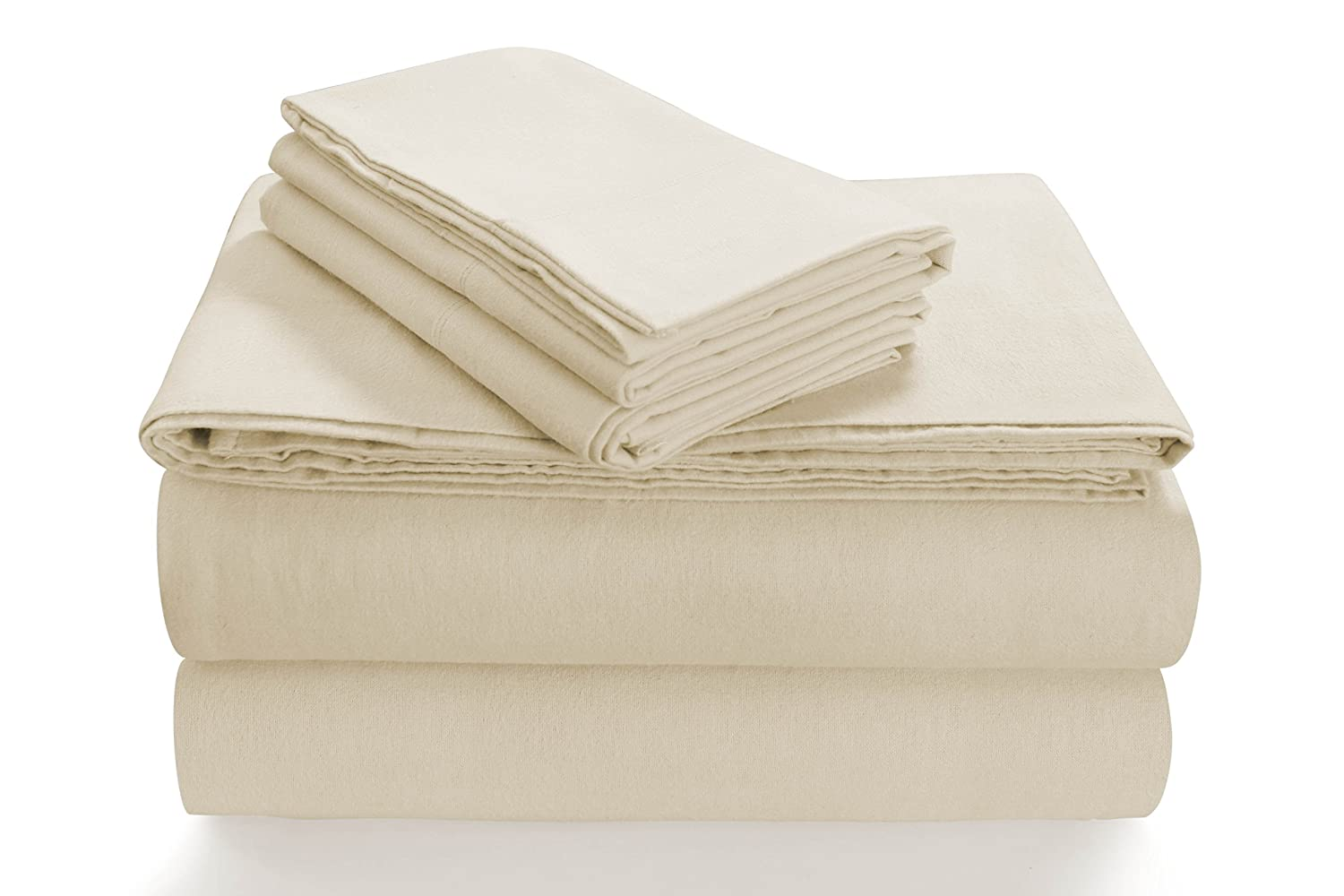 Ivory California King Sheet Set Tribeca Living SOLFL170SSTWSG Solid 5-Ounce Flannel Extra Deep Pocket Sheet Set Twin Silver Grey,