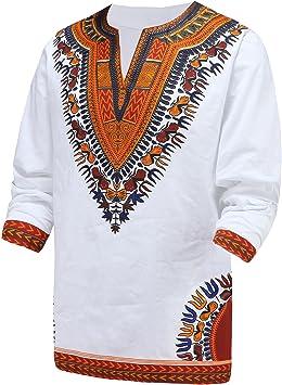 Fascicoco Dashiki Hombres Camisa Africana Hippie – Vintage – Mujeres Superior Haute la Blusa: Amazon.es: Deportes y aire libre