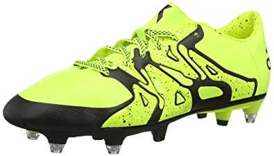 UK Shoes Store - adidas X 15.3 Soft Ground Soccer Shoes Men Yellow - Yellow (Solar Yellow / Black Co