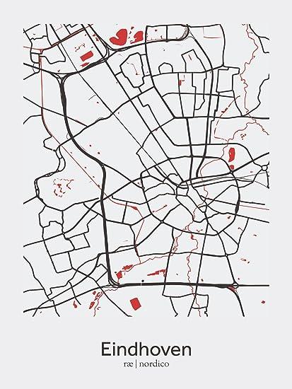 Amazon.com: Eindhoven, Netherlands Map Print: Home & Kitchen