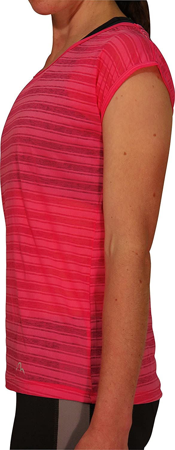 More Mile Breathe Short Sleeve Womens Training Top Pink-S