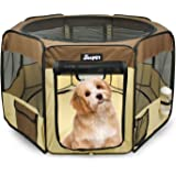 """Pet Dog Playpens 45""""&61"""", Jespet Portable Soft Dog Exercise Pen Kennel with Carry Bag for Puppy Cats Kittens Rabbits"""
