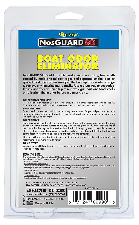 Amazon.com : NosGuard SG Odor Boat Odor Eliminator - Fast-Release ...