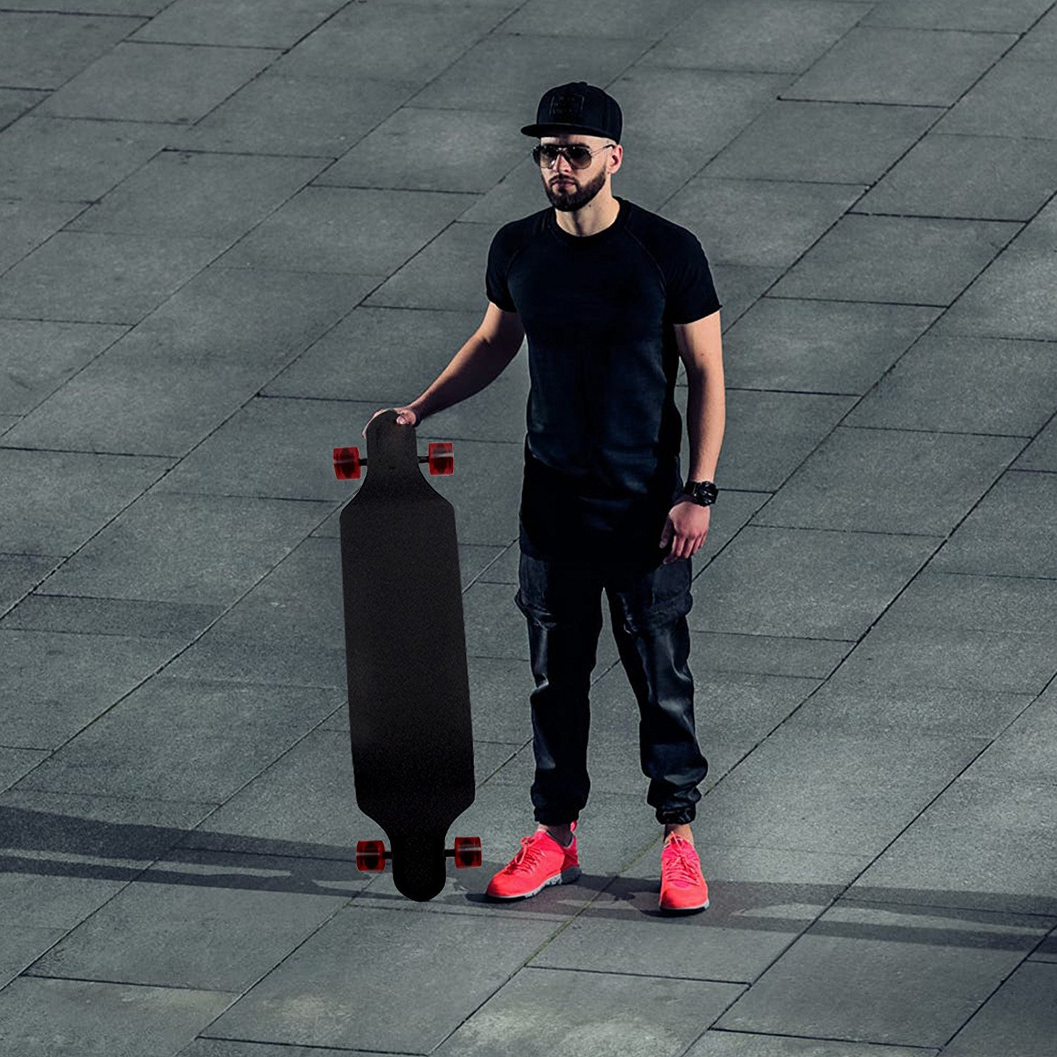 Professional 41'' X 9.5'' Longboard Skateboard Cruiser Through Downhill Complete Canadian Maple 11 layers