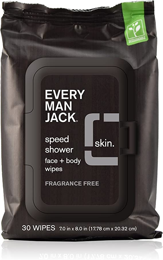 Every Man Jack Speed Shower Face + Body Wipes