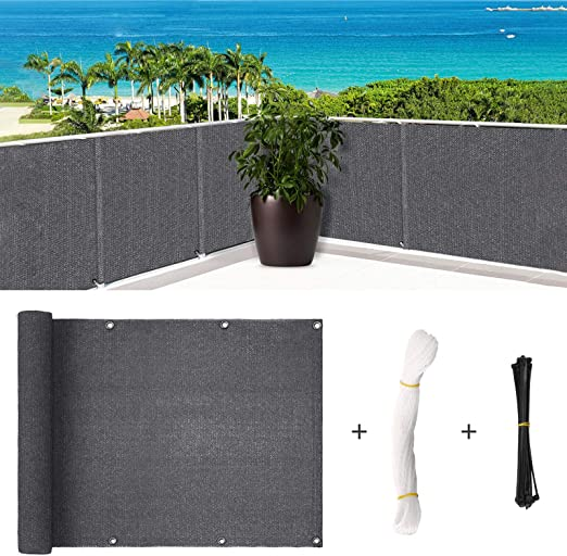 500x90cm Deck Balcony Privacy Screen Gardening Waterproof Cover Summer Fence