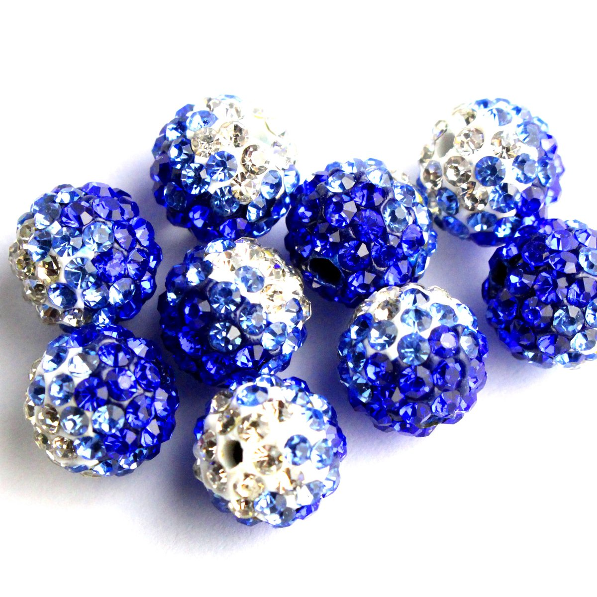 20pcs Dark blue transparent glass beads size 10mm