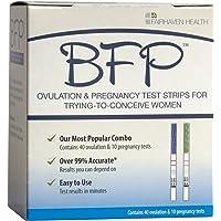 BFP Ovulation & Pregnancy Test Strips, Made in N. America, 40 LH Ovulation & 10 hcg Pregnancy Tests - Early Predictor Kit for Fertility