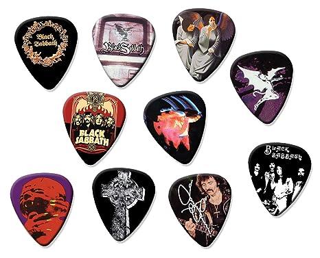 Black Sabbath Classic Set de 10 púas de guitarra eléctrica o acústica