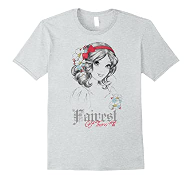 ac9fdcd6 Mens Disney Snow White Fairest Of Them All Graphic T-Shirt 2XL Heather Grey
