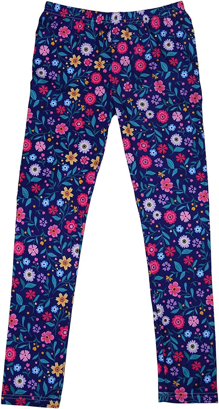 HDE Girls Ultra Soft Leggings with Print Designs Full Ankle Length Comfy Pants