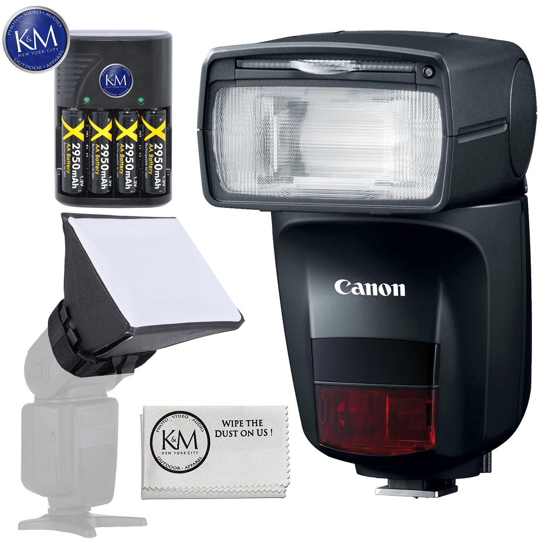 Canon Speedlite 470EX-AI Flash + Essential K&M Accessory Bundle by K&M