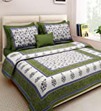 Xtore Traditional Jaipuri Print King Size Double Bed Sheet with 2 Pillow Covers (100% Cotton)