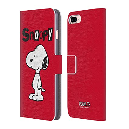 buy online 51a5d c591a Official Peanuts Snoopy Characters Leather Book Wallet Case Cover for  iPhone 7 Plus/iPhone 8 Plus