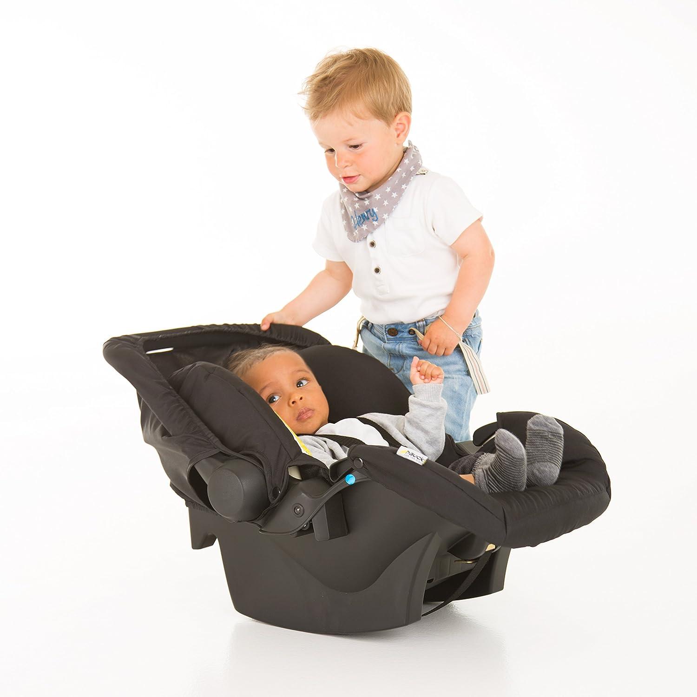 ECE Gruppen 0 ab Geburt bis 13 kg nutzbar Hauck Zero Plus Babyschale 0 + Seitenaufprallschutz black schwarz grau leicht