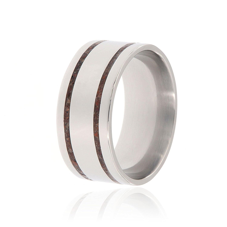 Dinosaur Bone Wedding Ring Handcrafted With Dinosaur Bone Wedding Band -  USA Comfort Fit  e54f9d794