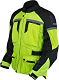 Pilot Motosport Men's TRANS.URBAN Air Jacket (Hi-Vis/Black, Large)
