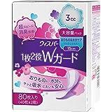 ウィスパー 1枚2役Wガード 女性用 吸水ケア 3cc おりもの&水分ケア パンティライナー 80枚入り 15cm 大容量パック