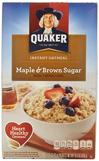 Image Unavailable Not Available For Color Quaker Instant Oatmeal Maple Brown Sugar