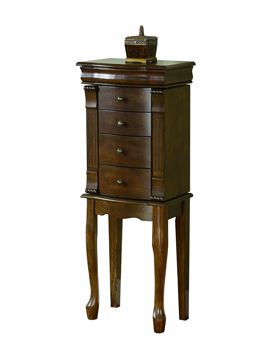 Powell Louis Philippe Walnut Jewelry Armoire