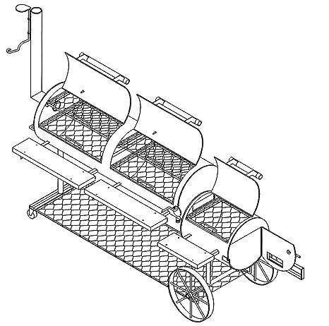 Amazoncom 64 X 20 Bbq Smokerpit Grill Plans Blueprints