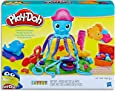 Play-Doh - Cranky the Octopus Playset inc 5 Tubs of Dough and Acc - Creative Kids Toys - Ages 3+