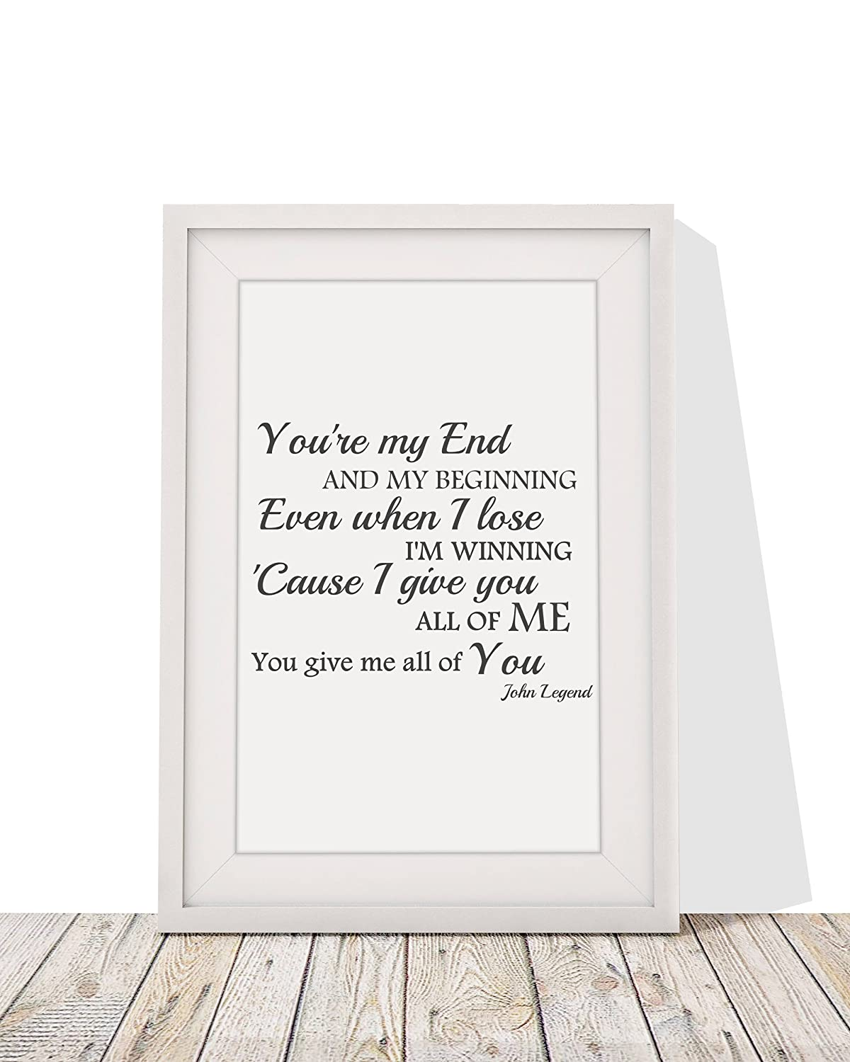 Four Leaf Clover Gift Shop John Legend All Of Me Song Lyrics Gift ...