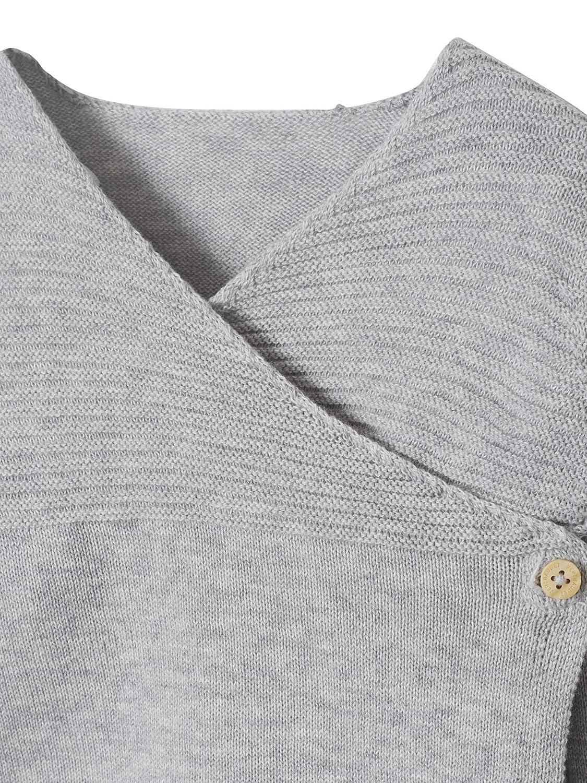 54CM VERTBAUDET Brassi/ère b/éb/é naissance en tricot de coton bio ECRU 1M