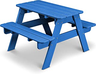 product image for POLYWOOD KT130PB Kids Picnic Table, Pacific Blue