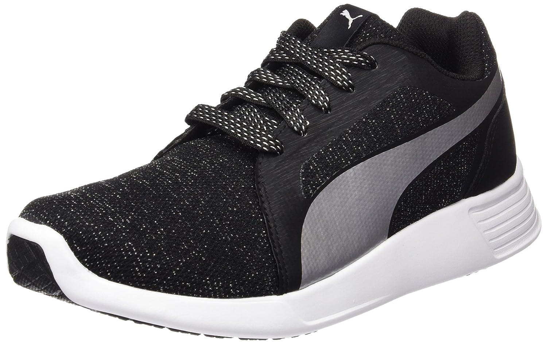 Puma Damen St Trainer Evo Gleam Sneakers  37 EU|Schwarz (Puma Black-puma Silver 03)