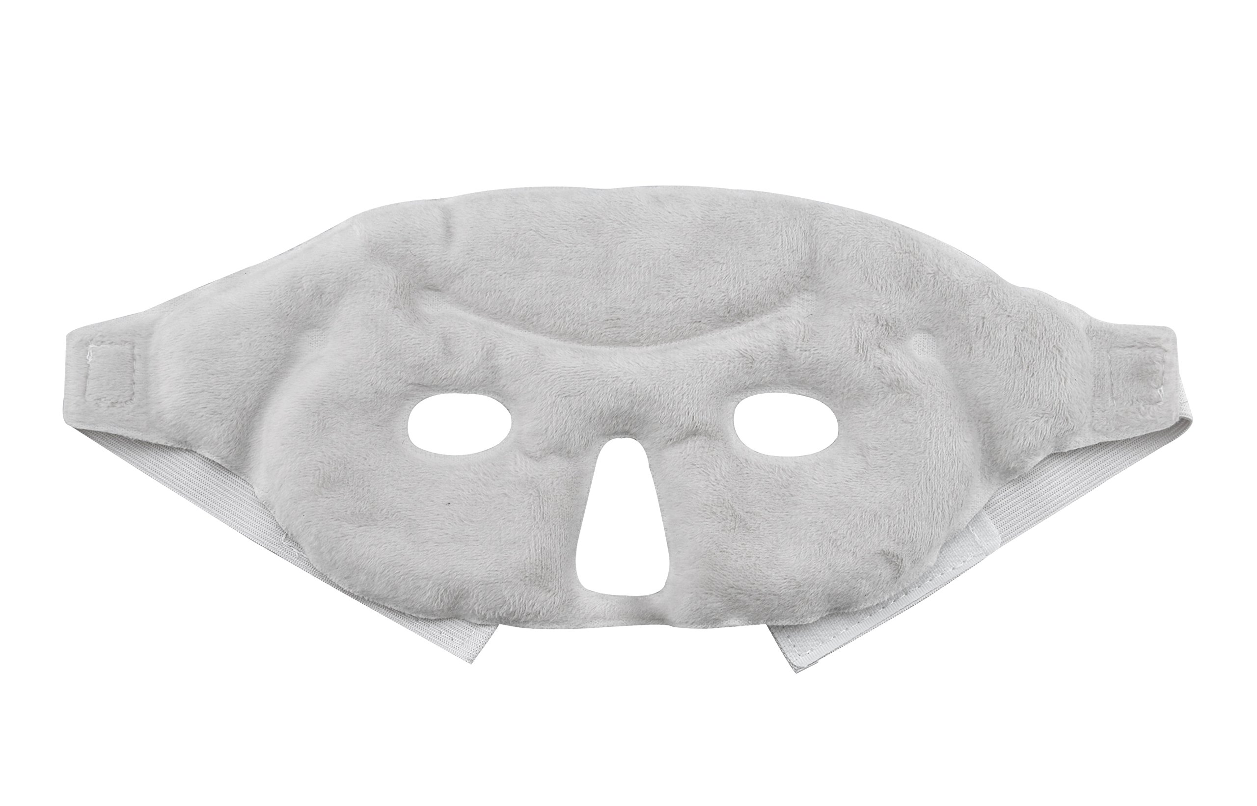 Hot and Cold Therapy Gel Bead Facial Eye Mask by FOMI Care | Ice Mask for Migraine Headache, Stress Relief | Reduces Eyes Puffiness, Dark Circles | Fabric Back | Freezable, Microwavable (Gray) by FOMI (Image #3)